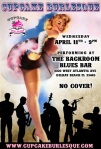 Cupcake Burlesque at the Backroom Blues Bar!