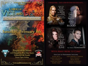 A Song of Vice and Desire - A Game of Thrones Burlesque