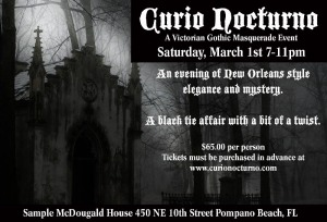 Curio Nocturno - A Victorian gothic masquerade