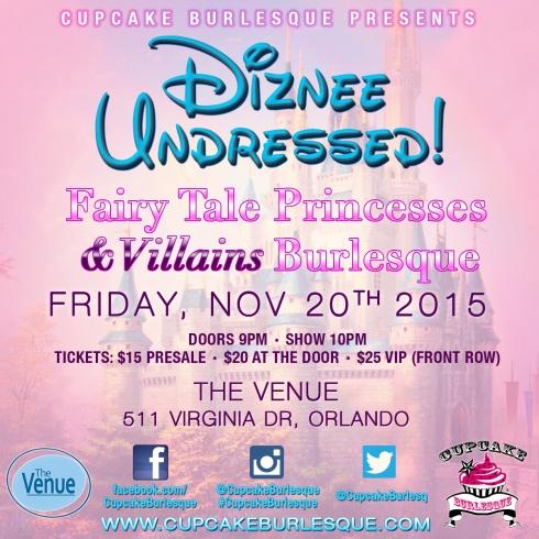 Diznee Undressed Burlesque Show - November 20 2015