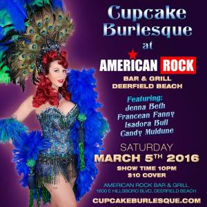 cupcake burlesque at american rock bar March 5th 2016
