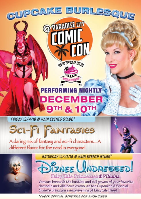 Cupcake Burlesque at Paradise City Comic Con