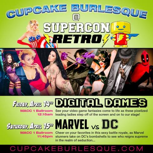 Cupcake Burlesque at Supercon Reto