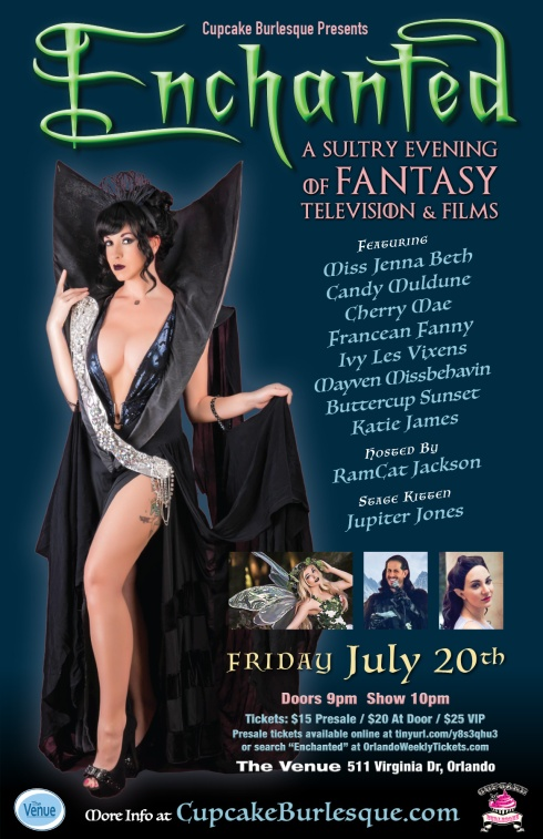 Cupcake Burlesque Enchanted Tribute to Fantasy TV & Films in Orlando