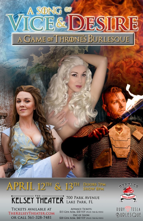 Game of Thrones Burlesque - A Song of Vice and Desire April 2019