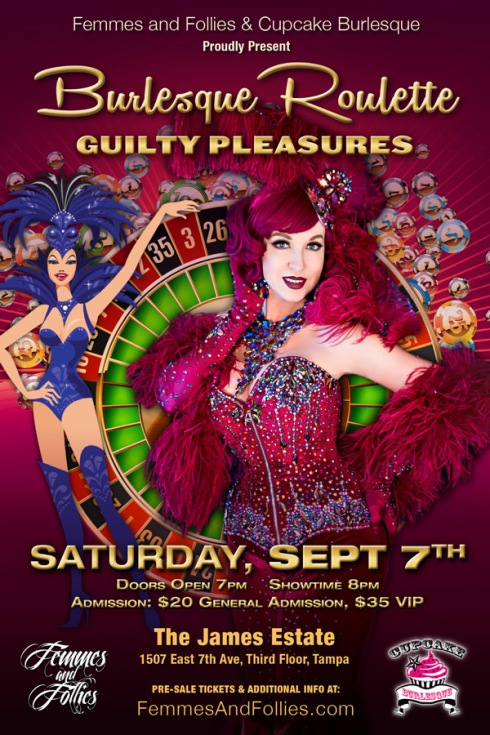 Cupcake Burlesque & Femmes and Folles present Burlesque Roulette in Tampa Florida